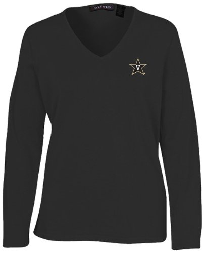 Oxford Golf NCAA Damen Carson Pullover V-Ausschnitt, Damen, schwarz, X-Small Golf-oxford
