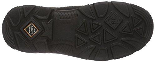Sanita San-Safe Yellow Velcro Shoe, Chaussures de Sécurité Mixte Adulte, Schwarz (Schwarz) Noir (2)