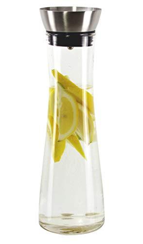 Wasserkaraffe Karaffe Saftkrug Krug aus Glas mit Ausgiesser und Sieb 1L 13081