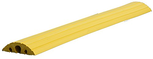 dancop Schlauch- und Kabelbrücke - für Kabel bis 45 mm Ø, gelb - LxBxH 1500 x 210 x 65 mm - Industriekabelbrücke Kabelbrücke Markierung Profil Profile Schlauchbrücke