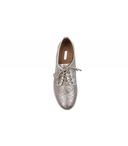 Buonarotti , Chaussures de ville à lacets pour femme Argent