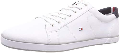 Tommy Hilfiger H2285arlow 1d, Baskets Basses Homme, Blanc Cassé (Bianco), 43 EU