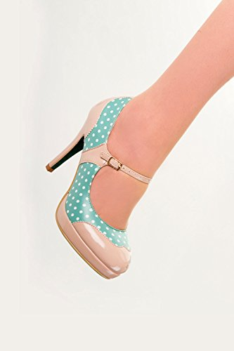 Banned, Mary Jane basse donna verde Mint 37 1/3, verde (Green), 39 EU