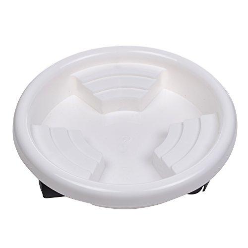 Kloud City Blanc amovible Pot de fleurs bac/Palette/jardin Pot de fleurs Saucersrs universel avec 3 roues 8.5 INCH WHITE blanc