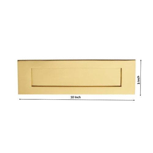 OGB - Bocacartas (latón pulido, estilo victoriano, 254 x 76,2 mm)