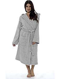 Ladies Robe Luxury Terry Towelling Cotton Dressing Gown Bathrobe Highly  Absorbent Women Hooded and Shawl Towel a8edc3bc4