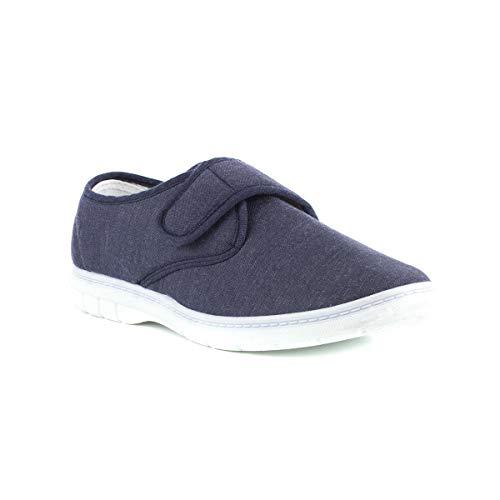 Hobos Mens Canvas Shoe in Blue - Size 9 UK - Blue