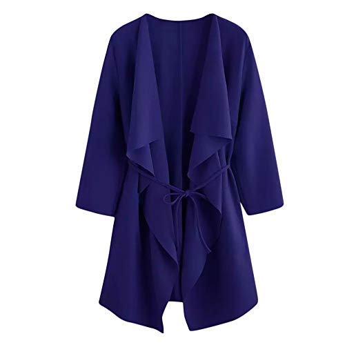 Strickjacke Damen Kolylong Frauen Elegant Einfarbig Lang Strickjacke mit Tasche Herbst Trenchcoat...