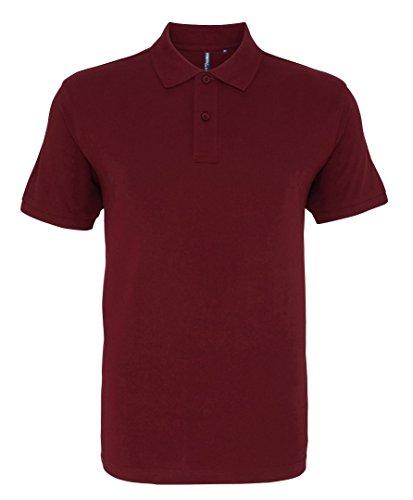 Asquith Fox Herren Poloshirt burgunderfarben
