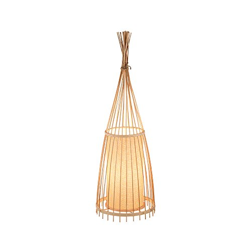 HJR Japanischen Stil Kreative Holz Bambus Stehlampen Kunst Stand Licht Wohnzimmer Schlafzimmer Nacht Bodenleuchten H91cm E27 -