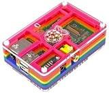 Ausklappbarer-optimierter PIMORONI - 001 - RASPBERRY PI, PIBOW Schutzhülle mit Regenbogen - (Packung mit 1) - Min 3 Jahre Garantie ClevaUK