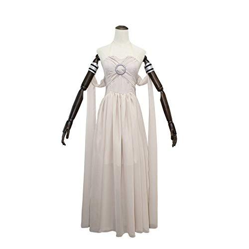 I TURE ME Frauen Daenerys Targaryen Cosplay Grau Langes Kleid, Game of Thrones Kostüm,L