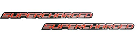 2 x (pair/Set) Red Supercharge Supercharged Aluminum Emblems for Chevy Corvette Dodge Hot Rod Street Chevy Impala Ss Harley Davidson Camaro Range Rover Ford Mustang Gt by Unknown