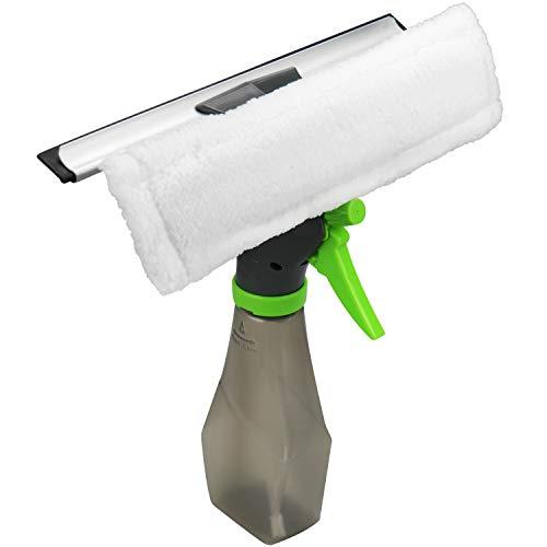 com-four® 3-in-1 Fensterreiniger, Abzieher, Fensterwischer und Sprühflasche (1 Stück - Fensterreiniger)
