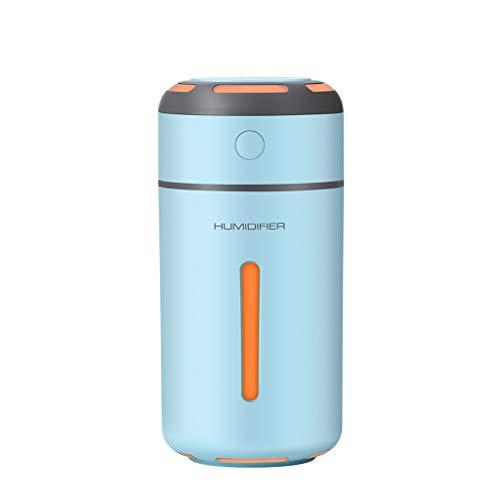 VRTUR Colorido Humidificador de luz Nocturna. Portátil Mini USB Humidificador para Coche, Bebés, Hogar, Salón, Dormitorio