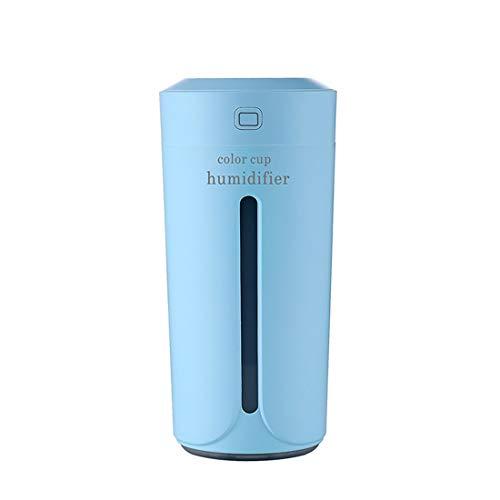 Yeying123 Color Taza De Luz USB Carga Mini Humidificador Colorido Noche Luz Silencioso Humidificador,Blue