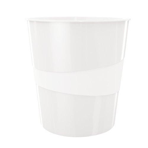 Leitz Papierkorb, 15 Liter, Kunststoff, Perlweiß, WOW, 52781001