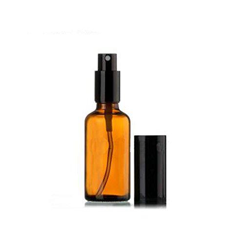 1 oz (30ml) Ambre bouteilles en verre vide Vaporisateur Atomiseur Bouteille En Verre Avec Rond Noir - Idéal pour les formules d'huile essentielle, aromathérapie et tous les produits de nettoyage naturel (3 pièces)