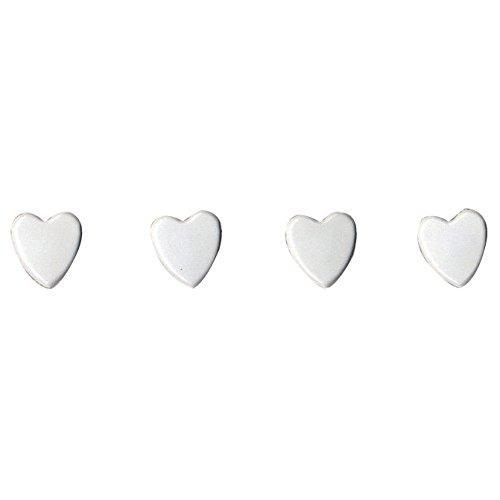 Artemio.+28+a+forma+di+Mini+Brad+100/Pkg-bianco+cuori