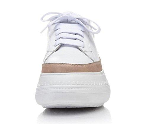 Printemps chaussures simples en cuir et décontractées en cuir chaussures plates à fond épais Camel