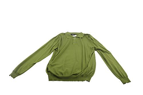 Preisvergleich Produktbild LAWRENCE GREY Strickhemd Polo Herren Polo Pullover Long Sleeve Gr.L grün