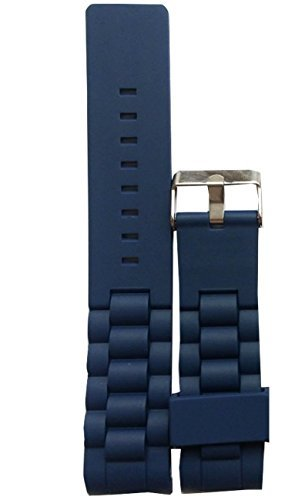 new-silicone-curved-watch-band-strap-diver-clasp-buckle-blue-22mm-waterproof