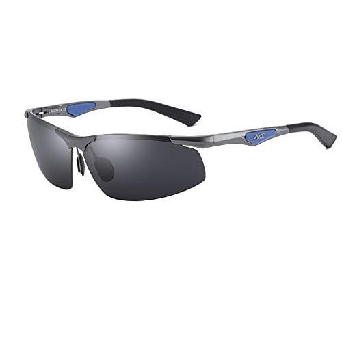 Jinxiaobei Herren Sonnenbrillen Sport polarisierte Sonnenbrille polarisierte Designer-Mode-Sport-Sonnenbrille for Baseball Radfahren Angeln Golf Superlight Frame UV400 Schutz (Color : Gray)