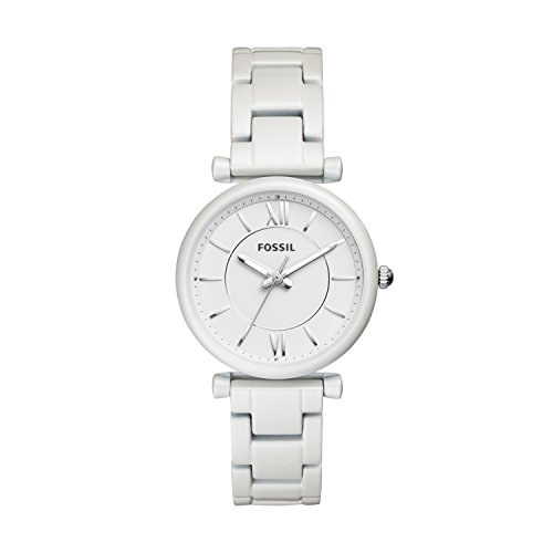 Fossil Damen Analog Quarz Smart Watch Armbanduhr mit Edelstahl Armband ES4401