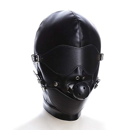 LRWTY Open Eye Black Ball Mund Plu-g Kopfbedeckung Maske Adult Bondage Passion Paar Flirt Supplies Binding Toy T - Shirts MIT