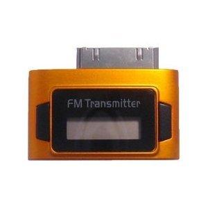 Exeze Pico 5 FM Transmitter für iPhone, iPod Nano, iPod Touch, iPod Classic - Sehr klein - Keine Kabel oder Batterien erforderlich - Orange -