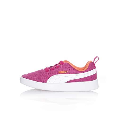Puma Sneakers Bambino COURTFLEX Mesh PS 364277.17 (34-17 Fucsia-White)