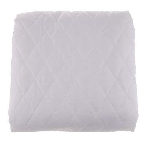 Baumwolle-poly-stoff (FLAMEER 1 Stück Steppfutter Futterstoff Steppstoff Jackenfutter, Beidseitige Stoffe aus Poly und Baumwolle - Weiß)