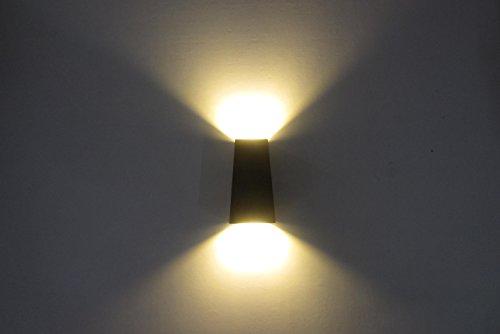 10W LED Up Down da parete luce bianca calda per interni ed esterni Gardern a forma trapezoidale luci decorative [classe energetica a + +]