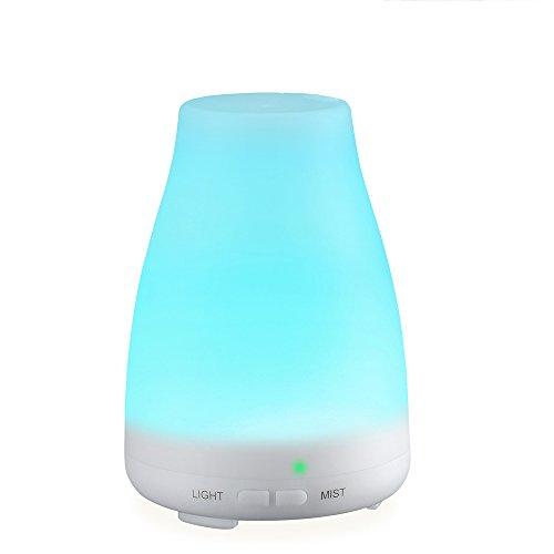 VicTsing Humidificador Aromaterapia 100ml, Aceite Esencial Difusor Ultrasonico, Portátil, LED Cambiando, Auto Apagado