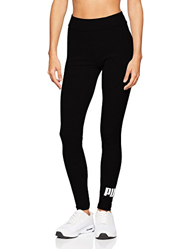 Puma Damen ESS Logo Leggings Hose, Cotton Black, XXL