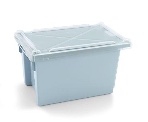 Boîte de transport/de stockage en polypropylène Blanc - Avec couvercle, empilable/abm. extérieur : 50 x 31 x 28,5 cm, abm. intérieur : 40 x 28 x 28 cm