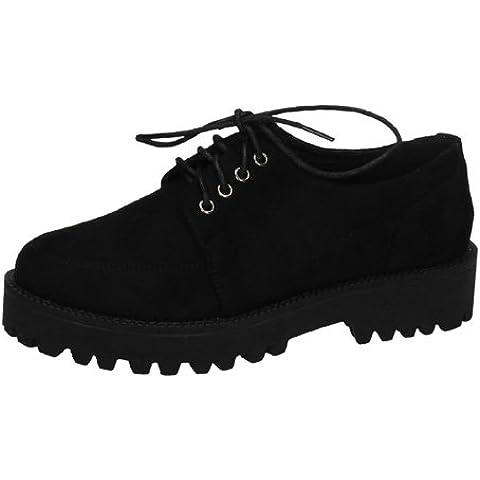 Zapatos blucher ante H.F SHOES ZAPATOS CORDÓN talla 41 NEGRO ANTELINA