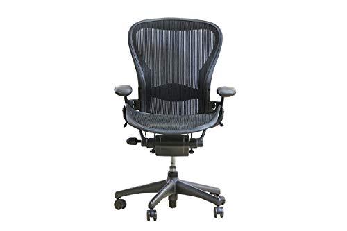 """Herman Miller Chef Bürodrehstuhl Schreibtisch Bürostuhl Modell\""""Aeron\"""" Mit Netzrücken In Grün, Geprüft Und Gebraucht, 108x68x43cm (Zertifiziert und Generalüberholt)"""