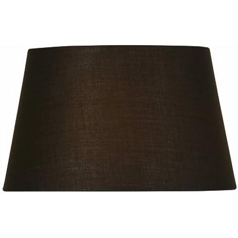 Oaks Lighting S901/12 CO Cotton Drum - Pantalla (30 cm), color chocolate