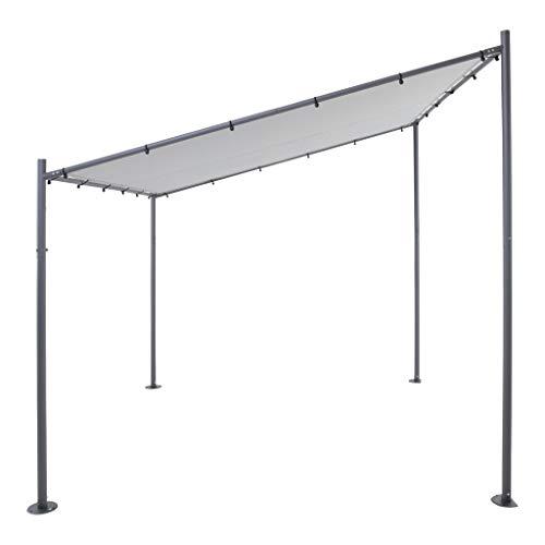 sorara milano parete belvedere | grigio | 285 x 300 cm (pxl) | pensilina esterna moderna con tettoia e patio del padiglione shelter | pergola