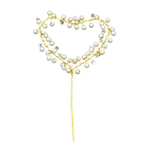 Heart-Shaped Licht handgemachte Kuchen backen gekrempelt Herz-Perlen-Kuchen-Deckel 2Pcs Valentinstag-Kuchen-Deckel Foto emittierende (Heart Shaped Kuchen-deckel)