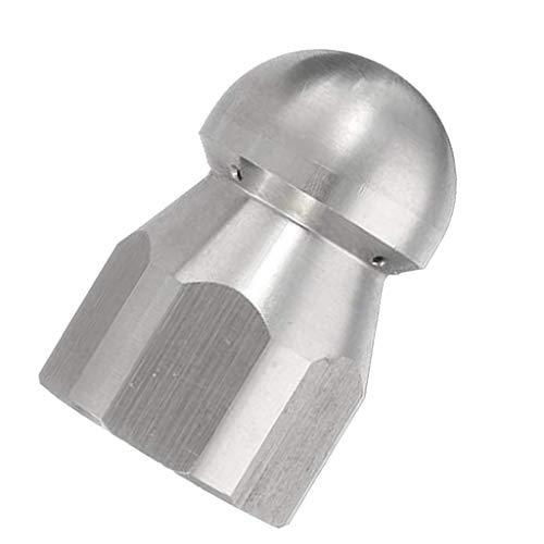 Generic G1 / 4 Zoll männlich Schnellgelenk Drehkanal Reinigungsdüse Edelstahl Hochdruck Reiniger Düse Rohr Drainage Reinigung Werkzeug Kopf