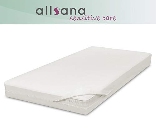 allsana Sensitive Care Matratzen-Topper-Bezug 160x200x8cm, Allergie Bettwäsche für Topper, Anti Milben Bezug für Boxspringbetten