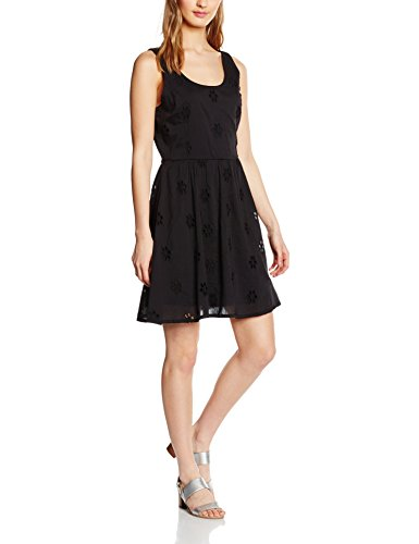ONLY Damen Kleid Onlpaula Fairy S/L Dress WVN, Schwarz (Black), 38