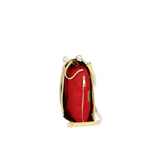 Footlocker Fotos Precio Barato Chicca Borse Borsa a tracolla in pelle 36x28x12 100% Genuine Leather Giallo Descuento Footlocker Fotos Perfecta Línea Barata Descuento Del Precio Más Bajo uOQQQQN