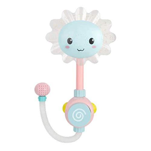 Toyvian Badespielzeug Sunflower Sunflower Wasserauslauf Brunnen Spray Kinder Bad Zeit Spiel für Baby Dusche Badewanne Schwimmbad Geburtstagsgeschenk (Blau)