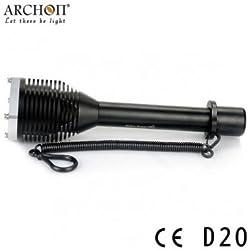 ARCHON D20 XM- L T6 1000lm 100M plongée Lampe de poche