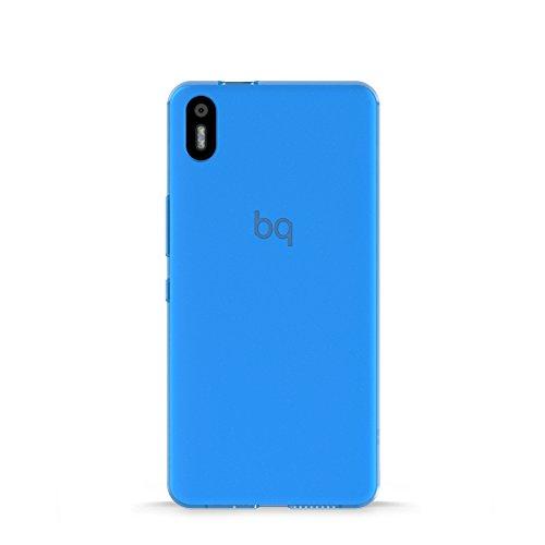 BQ Aquaris X5  Schutzhülle Gummie blau