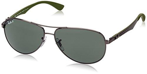 Ray-Ban Herren Sonnenbrille RB8313  , Gun, 61 mm