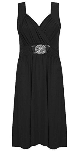 Sugerdiva Damen Cocktail Kleid schwarz schwarz Schwarz